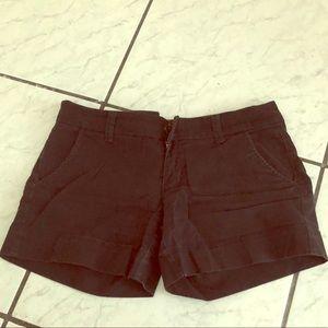 American eagle black midi stretch shorts size 6